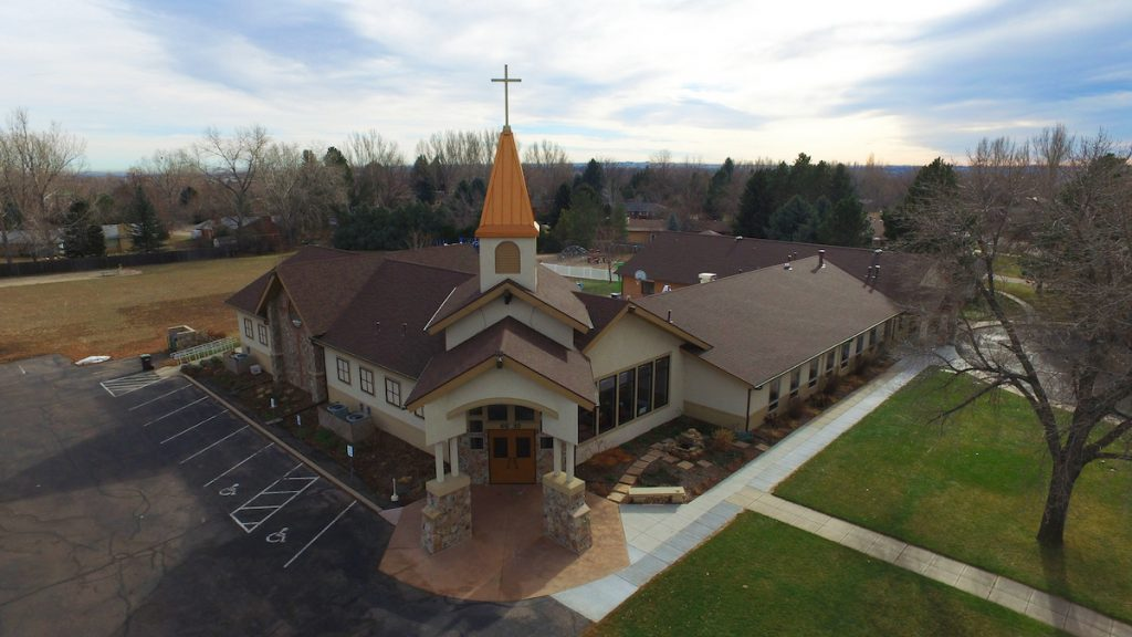 Commercial roof replacement of church in Denver