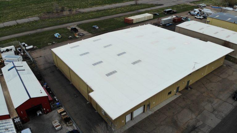 Large white hanger roof