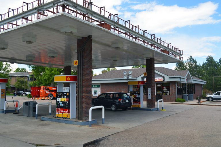 Shell Gas Station canopy installation 5