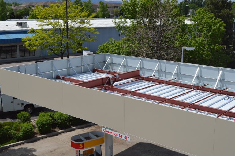 Shell Gas Station canopy installation