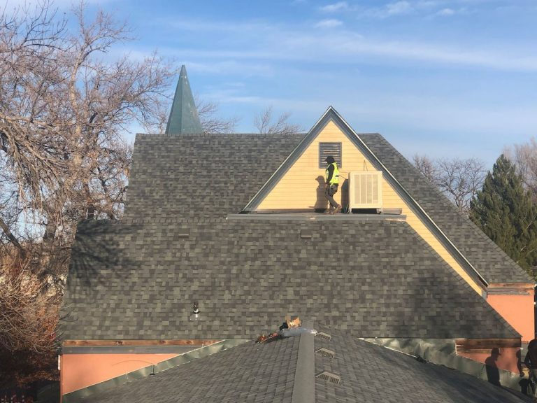 Town church asphalt shingle roof replacement
