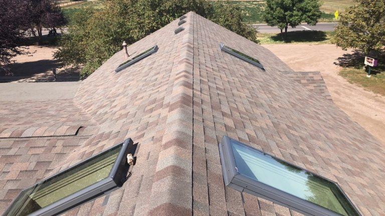 Church ashpalt shingle roof